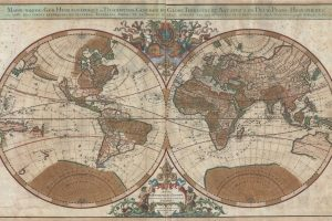 1691_Sanson_Map_of_the_World_on_Hemisphere_Projection_-_Geographicus_-_World-sanson-1691